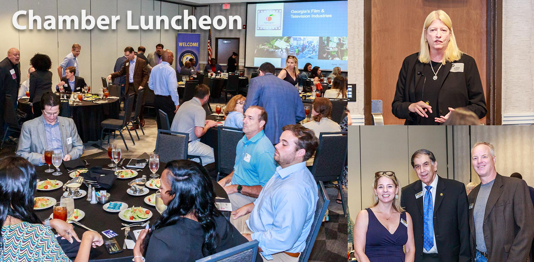 Ms. Lee Thomas addressed our luncheon on the present state of Georgia's film industry, and the recovery from the pandemic on June 10, 2021.
